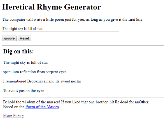 online rhyme generator