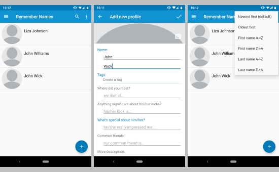 learn how to remember names with this Android app