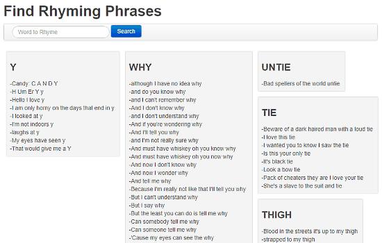 free online rhyme generator
