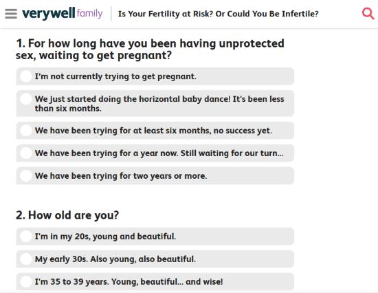fertility quiz