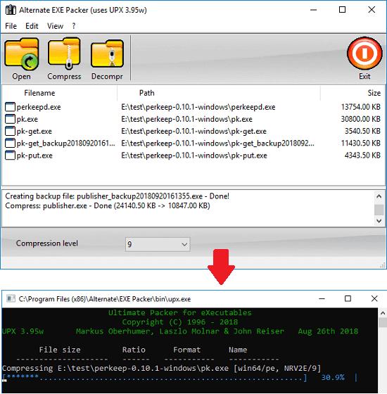 Alternate EXE Packer free exe compressor