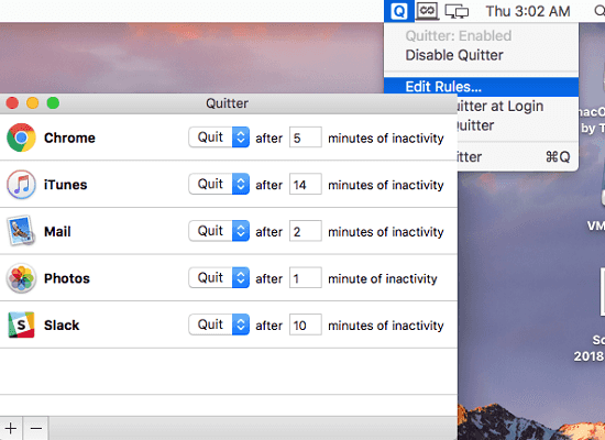 Automatically Quit Apps After Periods of inactivity in MAC
