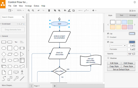 make control flow diagram online