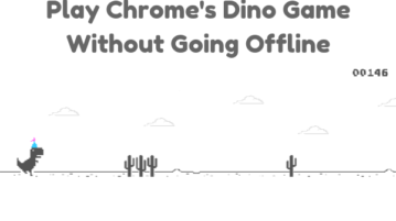 How To Play Chrome's Dino Game Without Going Offline