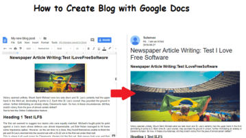 Create Blog with Google Docs