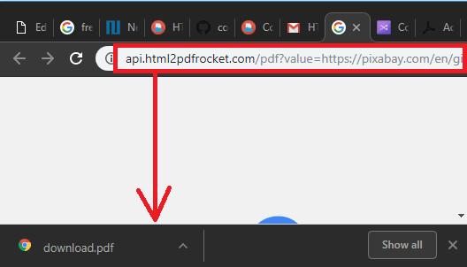HTMl to PDF Rocket