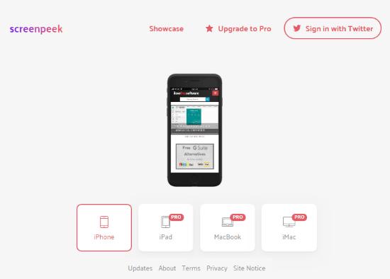 free iPhone mockups website
