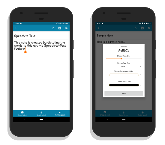 note taking Android app with voice recognition