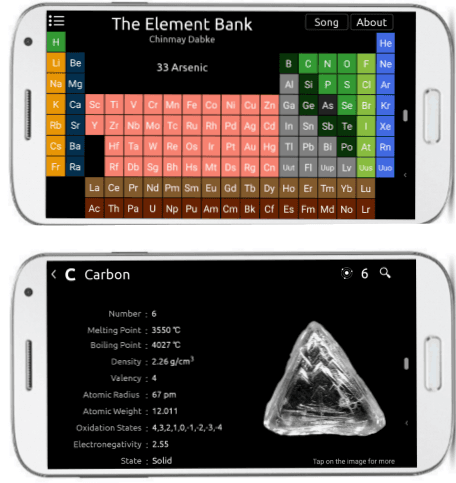 The element bank free periodic table app