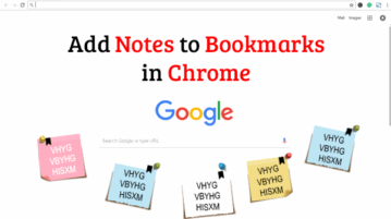 add notes to bookmarks in chrome