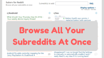 Browse All Your Subreddits In Separate Columns At Once