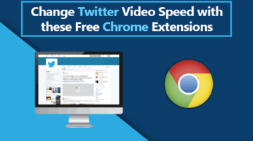change twitter video speed chrome