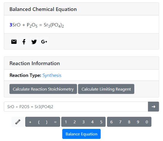 balance chemical equation online