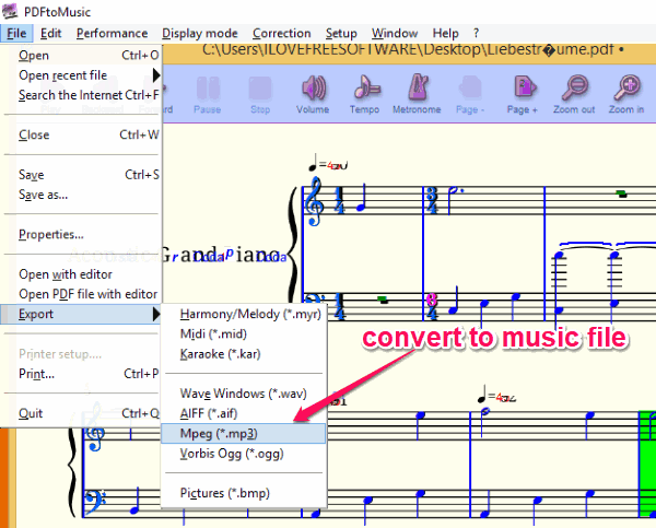 How to Convert PDF to Music