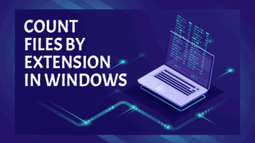 count files by extension in windows