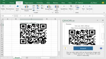 create qr codes in microsoft excel