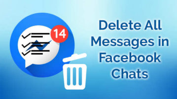 delete messages in facebook chats