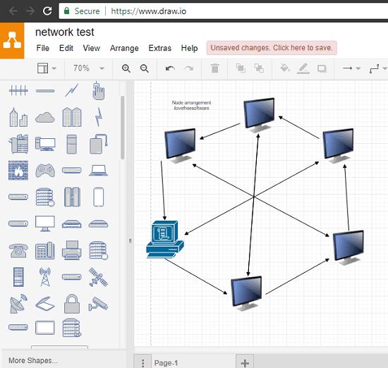 draw.io free network topology diagram maker
