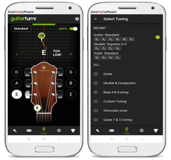 10 free guitar tuner apps for android. Black Bedroom Furniture Sets. Home Design Ideas