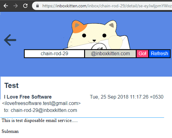 inboxkitten free temporary email id