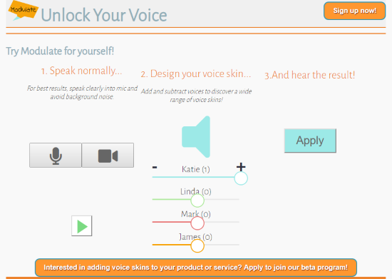 mask you voice online