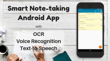 Free Note Taking Android App With Voice Recognition, OCR, Text-to-Speech
