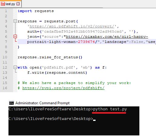 pdfshift html to pdf api