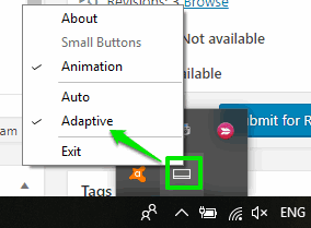 select adaptive option