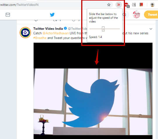 Change Twitter Video Speed with These 4 Free Chrome Extensions