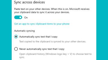 sync clipboard data windows 10