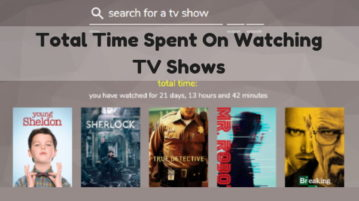 Calculate Total Time Spent On Watching TV Shows