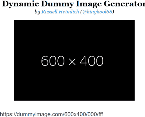 website interface with default image resolution