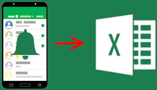 Export Android Notification History to Excel