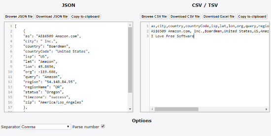 5 Online JSON to Excel Converter Free Websites