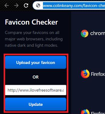 Favicon Checker upload icon