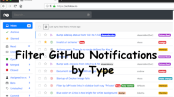 Filter GitHub Notifications by Type