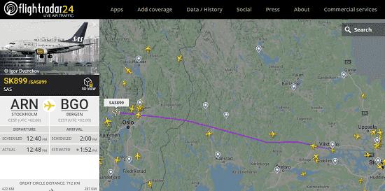 FlightRadar24 free air traffic viewer