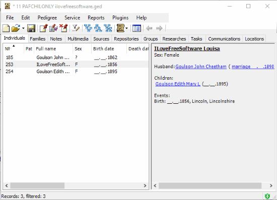 GEDKeeper- interface