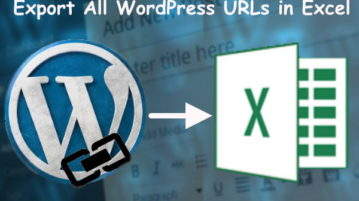 How to Export All WordPress URLs in Excel