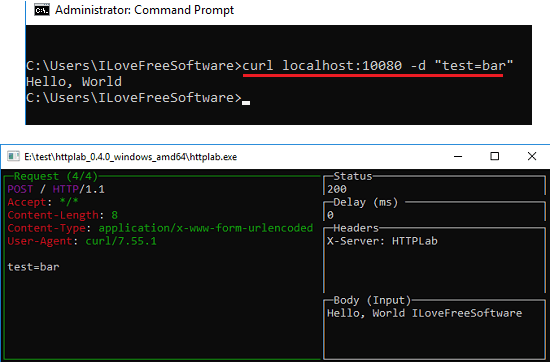 Httplab server in action