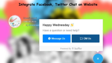 Integrate Facebook, Twitter Chat on Website