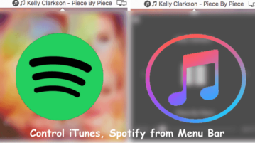 Free Mac App to Control iTunes, Spotify from Menu Bar