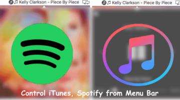 Free Mac App to Control iTunes, Spotify from Menu Bar