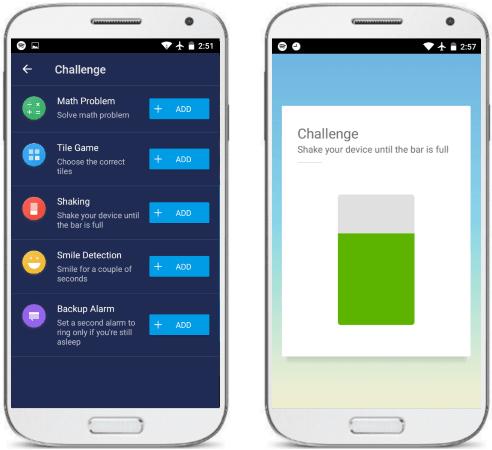 MyAlarm spotify alarm app games