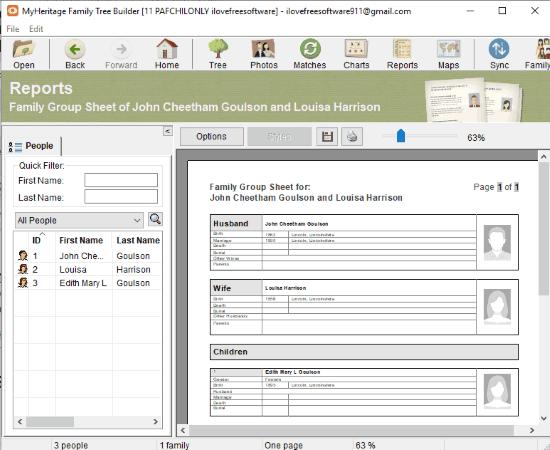 MyHeritage Family Tree Builder