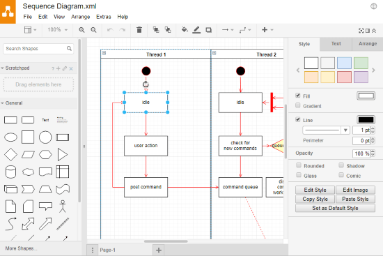 make sequence diagram online free
