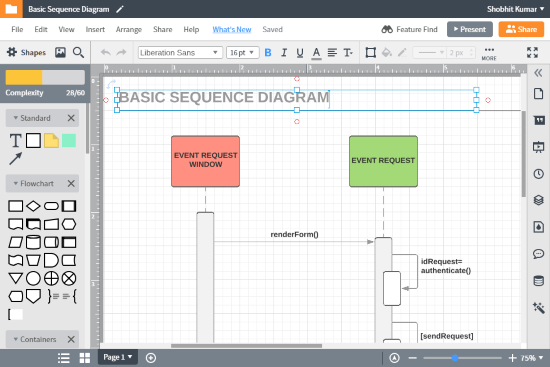 online sequence diagram maker website