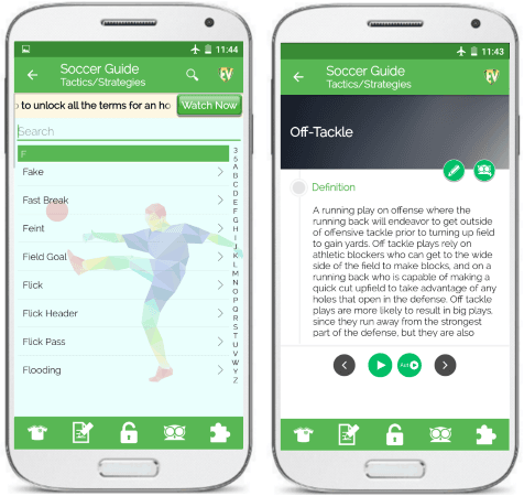 Soccer Guide free Android app