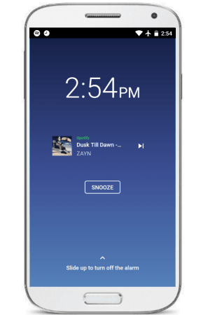 Spotify Alarm App for Android to set Spotify Songs as Alarm Tone