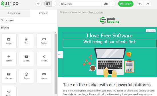 Stripo Email template Builder